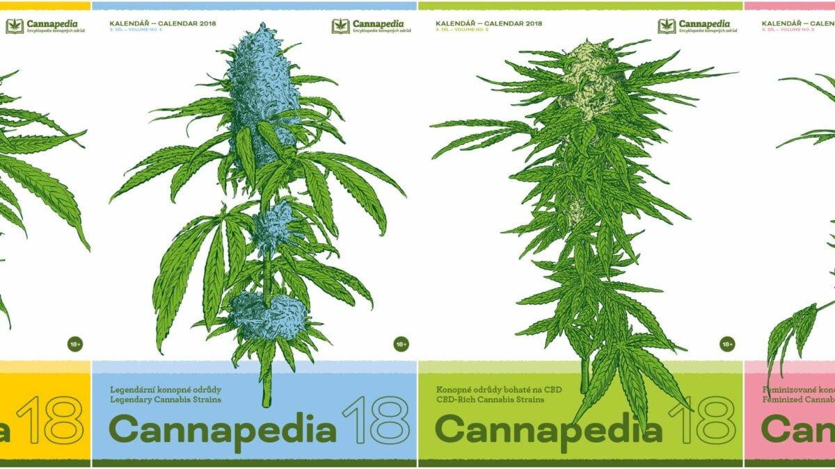 Cannapedia 2018 – Kalendář konopných odrůd ve čtyřech unikátních edicích právě v prodeji