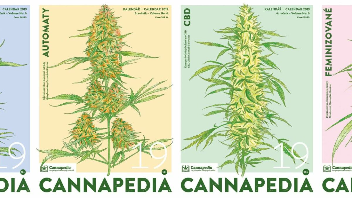 Cannapedia 2019 - Lunar calendar of cannabis varieties in four unique editions currently on sale